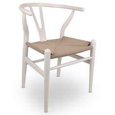 Wishbone Accent Chair - White   www.hayneedle.com