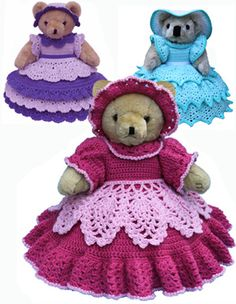 Doll and Baby Doll Clothing Crochet Pattern Downloads