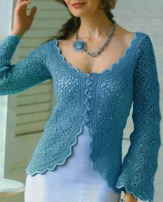 Crochet jacket PATTERN, crochet elegant jacket for wedding party – pattern.