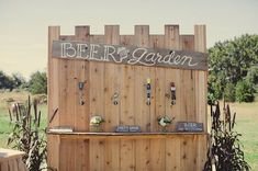 build your own beer bar so guests could help themselves to your favorite craft brews on tap - photo by Kaitlin Noel Photography