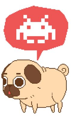 Puglie was testing out the pixel life for a really exciting upcoming adventure :]
