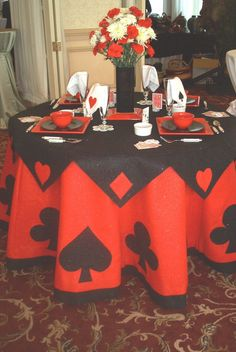 casino prom | tablecloth | Prom 2013 Casino