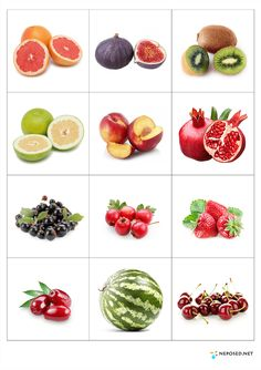 Print out and practice fruit names - memory matching game or flash cards use. Healthy Prepared Meals, Healthy Recipes, Fruit Names, Activities For Kids, Crafts For Kids, Fruit Picture, Food Pyramid, Food Themes, Fruits And Vegetables