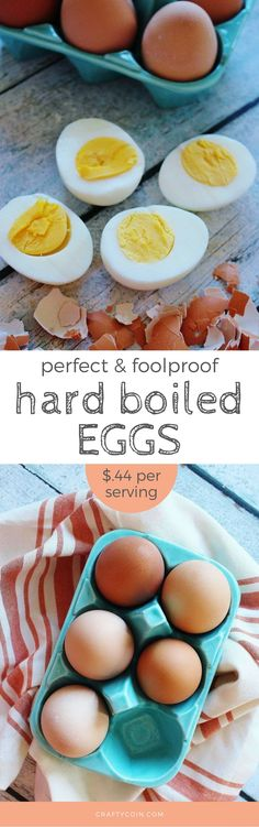 You should always have hard boiled eggs on hand for a quick meal! Add them to a salad, sandwich, and just eat them on their own. Such a cheap and healthy protein source! Learn how to make them easily with this foolproof hard boiled egg recipe.