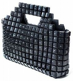 Geeky Computer Keyboards Fashion Bags are a great combination of Computer Keyboard Keys and Fashionable Hand Bags. They mix the Tech and Fashion world in a neat but questionable concept. Unique Handbags, Unique Bags, Black Handbags, Purses And Handbags, Dior Purses, Chloe Handbags, Ladies Handbags, Unique Purses, Handmade Handbags