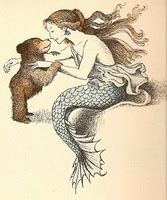THIS is a tattoo I would get if I would ever get a tattoo (which I won't!) It's Little Bear (my favorite!) meeting a mermaid. LOVE!