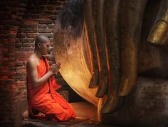 Buddhism Monk sit in the Temple - Buddhism Monk sit in the Temple in Thailand.
