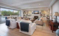 Brandon Architects - living rooms - french pine floors, pine floors, hardwood floors, pocket slide doors, pocket slide patio doors, white sl...