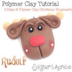 Polymer Clay Ornament Tutorial: Rudolf