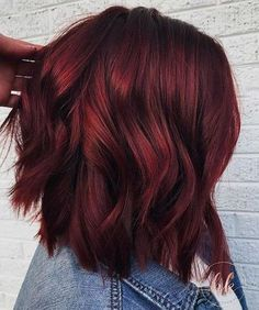 Short Red Hair Color Ideas Dark Red Balayage Hair +#color #DarkRedBalayageHair #hair #Ideas #red #Short