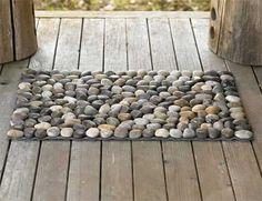stone pebbles floor mat