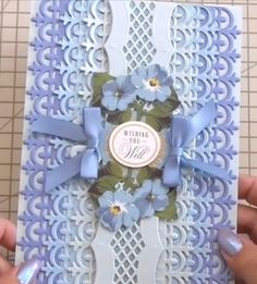 Anna Griffin Cards, Decorative Borders, Mecca, Hobbies And Crafts, Card Ideas, Projects To Try, Paper Crafts, Scrapbook, Fancy