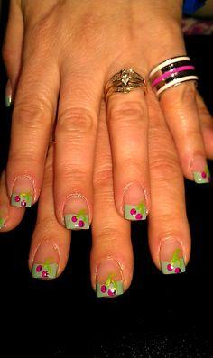 Cherries;) Cherry Nails, Maje, Cherries, Nail Tips, Pretty Nails, Nail Colors, Mindset, Berry, Nail Art