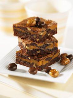 Brownies mit Karamell | http://eatsmarter.de/rezepte/brownies-mit-karamell