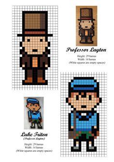 Professor Layton - Luke Triton - hama beads - pattern
