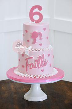 Barbie Cake, Vintage Barbie, Custom Cakes, Bakery, Birthday Cake, Desserts, Food, Barbie Party Decorations, Personalized Cakes