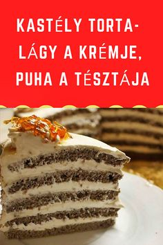 Hungarian Desserts, Cake Recipes, Dessert Recipes, No Bake Desserts, Deli, Macarons, Food To Make, Food And Drink, Sweets