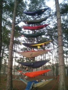 Next level hammock camping!