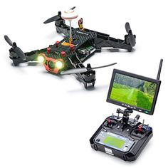Eachine Racer 250 FPV Quadcopter Drone with HD Camera Eachine I6 2.4G 6CH Transmitter 7 Inch 32CH Monitor RTF Mode 2 Eachine
