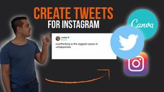 This video will be all about how to make twitter screenshot graphics for instagram. To create those tweet image or those tweet images we are going to use some tools. We actually need those 3 tools for our tweet image.  Now if we have this also in place we only need our content creation tool to create a twitter instagram post and in this case or in this video we will use canva for our tweet image.  So if you watch this video you should know how to create twitter instagram posts. Tech Companies, Graphics, Content, Watch, Canvas, Twitter, Create, Amazing, Instagram Posts