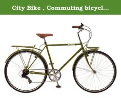 """City Bike , Commuting bicycle 700C , Olive Green , 18 inch, 8 speed Shimano Altus, 55CM Men by Biria. Frame :Steel------- Fork: Steel Unicrown------- Rims: Aluminum black with CNC wall------- Tires: 700 x 32C------- Gear: 8 speed Shimano altus------- Stem: Aluminum ------- Handlebar: Aluminum------- Brake: Front and rear aluminum V-brakes------- Standard: Front rack, fenders, kickstand------- Sizes and Color: 55 cm (21.5"""") Olive Green,-------."""