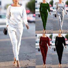 821899fa715164 Fashion Two Piece Set Women Tracksuits Female Set 2 Pieces Top and Pants  Sportswear Set