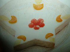 torta natalizia - stella glassata e canditi