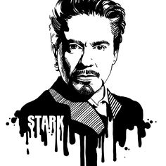 Iron Man, aka Tony Stark, in black and white comic-style portrait. One of a series: Avengers in Ink. Avengers in Ink: Iron Man Bob Marley Kunst, Arte Bob Marley, Iron Man Kunst, Iron Man Art, Iron Man Drawing, Avengers Symbols, Black And White Comics, Die Rächer, Man Sketch