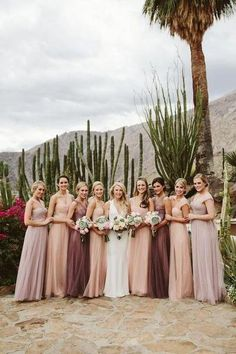 Palm Springs wedding made the most of its desert wedding venue, with tons o. This Palm Springs wedding made the most of its desert wedding venue, with tons o. This Palm Springs wedding made the most of its desert wedding venue, with tons o. Tulle Bridesmaid Dress, Bridesmaid Dresses Online, Wedding Bridesmaids, Wedding Dresses, Bridesmaid Color, Mismatched Bridesmaid Dresses, Bridesmaids With Different Dresses, Bridal Party Dresses, Bridesmaid Outfit