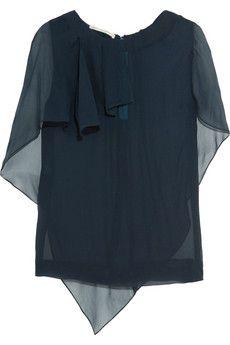 Antonio Berardi Draped silk-georgette top | THE OUTNET
