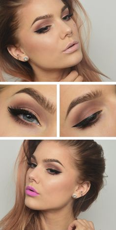 Linda Hallberg Products used; NYX proofit waterproof eyeshadow primer Anastasia artist palette Kat von d ink liner Trooper Strip lash Russet feather by Katosu Love Makeup, Makeup Inspo, Makeup Inspiration, Hair Makeup, Makeup Ideas, Buy Makeup, Gorgeous Makeup, Makeup Geek, Cheap Makeup