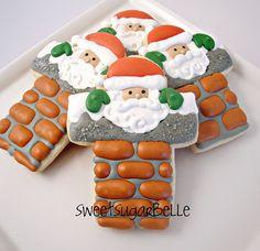 Santa stuck in the chimney cookies