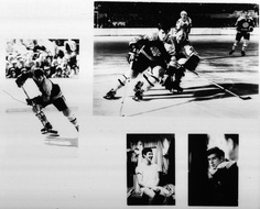 Photographer/Creator  John Zimmerman  Collection  1970  Publisher  Sports Illustrated  Caption/Description  Photographs of Bobby Orr during and after an ice hockey game.
