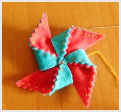 How to make a pinwheel in felt