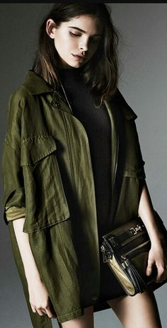 Military Chic, Military Looks, Military Fashion, Fashion Week, Fashion Show, Fashion Outfits, Winter Fashion, Rebecca Minkoff, Camouflage