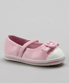 Take a look at this Pink Buckle Bow Flat by Xeyes on #zulily today!