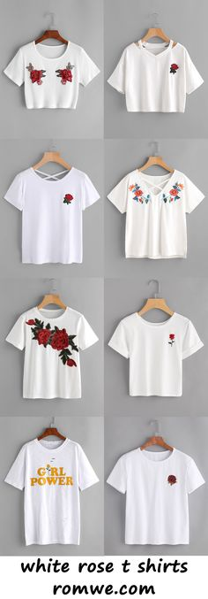 white rose t shirts -romwe.com