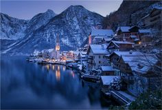 Hallstatt with snow by wolfik http://ift.tt/1x1VCO5
