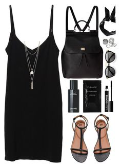 """""""Going somewhere..?"""" by monmondefou ❤ liked on Polyvore featuring Splendid, Cleanse by Lauren Napier, H&M, Boohoo, Anastasia, Dolce&Gabbana, Pieces, black, backpack and blackdress"""