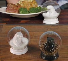 I AM IN LOVE WITH THESE!! $11.99 Snow Globe Bears Salt and Pepper Shakers - Perpetual Kid