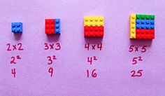 Lego is not for playtime only anymore. Here is a cool Lego idea - you can use LEGO To Explain Math To Children Easily . It includes fractions, squares . Fractions, Lego Hacks, Lego Math, Used Legos, Math Homework Help, Build Math, Math Genius, Math Courses, Fun Math Games