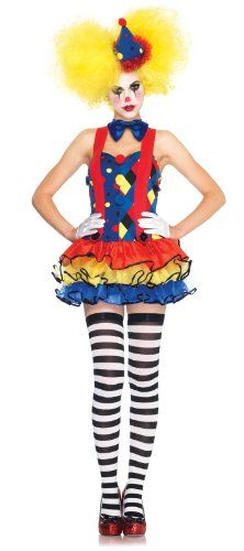 Leg Avenue Women's 3 Piece Giggles The Clown Suspender Tutu Dress with Bow Tie And Hat, Blue/Red, Small - http://www.halloween.quick-reviews.com/5748/leg-avenue-womens-3-piece-giggles-the-clown-suspender-tutu-dress-with-bow-tie-and-hat-bluered-small.html