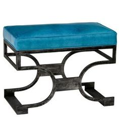 Domingo Scrolled Leather Bench - Black Iron & Chocolate Brown (See more finish & fabric options) Modern Furniture, Home Furniture, Redford House, Leather Bench, Old World Style, Chair Cushions, Pebbled Leather, Antique Gold, Upholstery