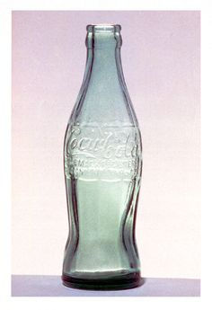 """Raymond Loewy designed this coke bottle in 1954 and called it """"the most perfectly designed package in the world"""""""