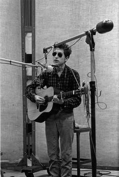 Bob Dylan in studio - 1963