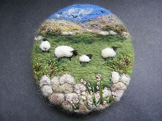 Handmade-needle-felted-brooch-Gift-In-the-Upland-Meadow-by-Tracey-Dunn