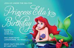 Little Mermaid Free Printable Birthday Invitations Party