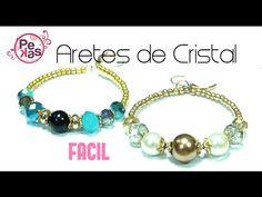 Como hacer Aretes faciles con Cristales : Pekas Creaciones - YouTube