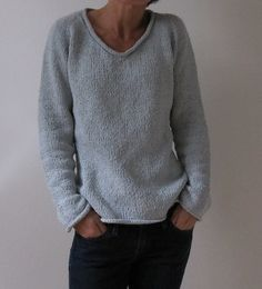 simple summer tweed top down.  free pattern.  looks sooooo comfy!