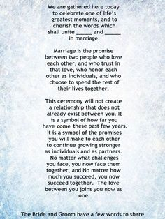 My Non-Religious, Short and Sweet Wedding Ceremony Script par 1. wedding vows, weddings, wedding ceremony, wedding officiant: